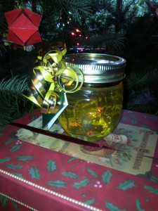 A jar of raw local honey makes a great christmas gift